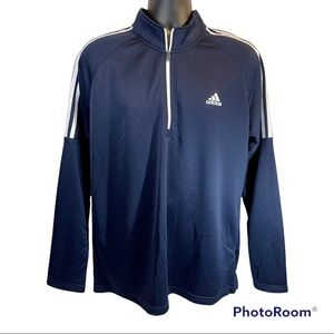 🆕 Adidas Golf Navy French Terry 1/4 zip pullover